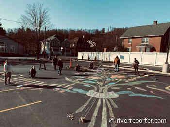 A chalk drawing in Honesdale - The River Reporter