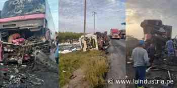 Paiján: pasajeros salvan de morir en triple choque de bus y camiones [VÍDEO] - La Industria.pe