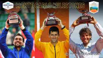 Fabio Fognini, Novak Djokovic & Rafael Nadal In Monte Carlo Milestone Moments - ATP Tour