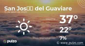 El clima para hoy en San José del Guaviare, 15 de abril de 2020 - Pulzo