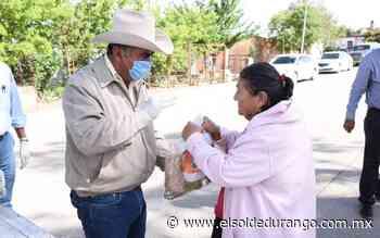 Entregan apoyos alimentarios en comunidades de Panuco de Coronado - El Sol de Durango