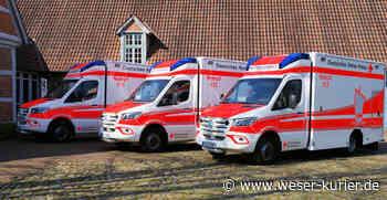 Drei nagelneue Rettungsautos mit Torfkahn-Logo - WESER-KURIER