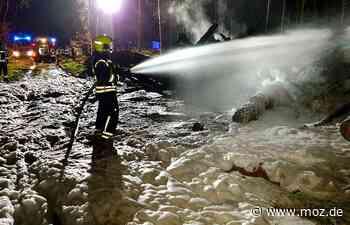 Waldbrand: Feuerwehren aus Wandlitz an der Grenze - Märkische Onlinezeitung