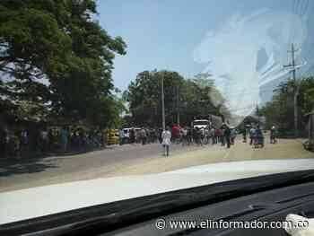 Habitantes de Garagoa salen a protestar por la falta de ayuda del Distrito - El Informador - Santa Marta