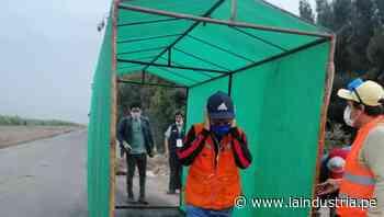Santiago de Cao: instalan túneles para desinfectar a peatones en entrada de ciudad y mercados - La Industria.pe