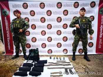 Hallan depósito ilegal con material de guerra en San Vicente del Caguán, Caquetá - Diario del Cauca