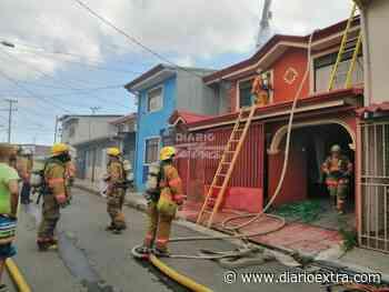 VIDEO: 5 unidades de bomberos atendieron incendio en Calle Blancos - Diario Extra Costa Rica