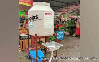 Colocan lavamanos en zonas concurridas de Teapa - El Heraldo de Tabasco