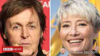 Sir Paul McCartney and Dame Emma Thompson write 'love letters' to NHS - BBC News