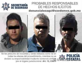 Detuvieron a tres presuntos delincuentes en Ixtapaluca. SSP - todotexcoco.com