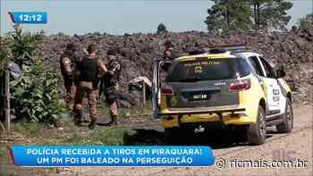 Polícia recebida a tiros em Piraquara um PM foi baleado na perseguição - RIC Mais