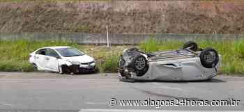 Pai e filho sofrem acidente na BR-101, em Joaquim Gomes - Alagoas 24 Horas