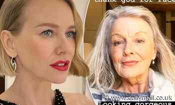 Age-defying looks run in the family! Naomi Watts shares a stunning picture of her mother Miv - Daily Mail