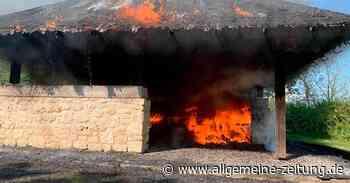 Flammen verwüsten Grillhütte in Essenheim - Allgemeine Zeitung