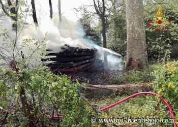 Gorgonzola, in fiamme legnaia - Mi-Lorenteggio