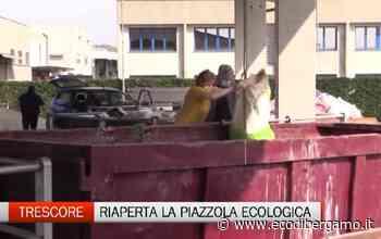 Trescore Balneario, è subito assalto alla piazzola ecologica - L'Eco di Bergamo