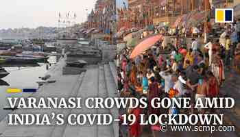 India's famous Ganges funeral pyres at Varanasi burn low amid coronavirus lockdown - South China Morning Post