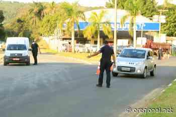Barreira sanitária para motoristas no bairro Cruzeiro do Sul em Jaguariuna - O Regional