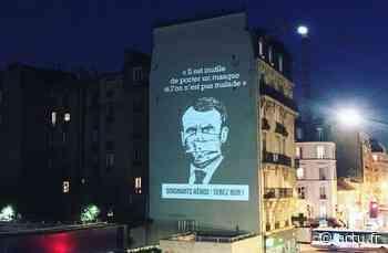 Clichy. A l'heure des applaudissements, il projette des messages sur la façade d'un immeuble - actu.fr