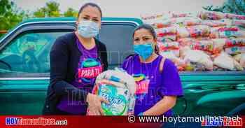 Alcaldesa de Abasolo entrega despensas a los más necesitados - Hoy Tamaulipas