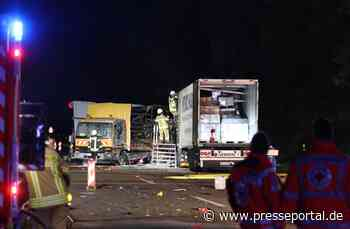 FW Asbach: Nach Unfall geht LKW in Flammen auf - Presseportal.de