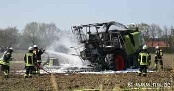 Erntemaschine geht in Rietberg in Flammen auf - 100.000 Euro Schaden - Neue Westfälische