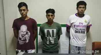 Policía de Zaña detiene a tres sujetos con drogas - LaRepública.pe