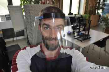 Yvelines. Saint-Germain-en-Laye : Jérémie s'est lancé le défi de fabriquer 500 masques visières - actu.fr