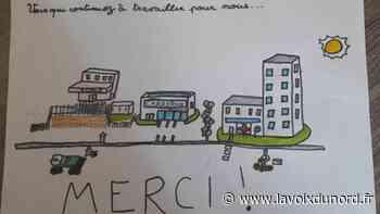 Roost-Warendin : les élèves de Salengro soutiennent le personnel soignant, leurs nouveaux héros - La Voix du Nord