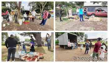 Carabineros del Cauca apoyaron el mercado campesino en La Venta Cajibío [VIDEO] - HSB Noticias