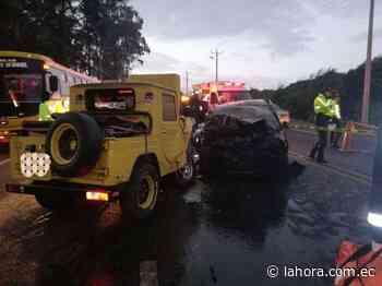 Tres fallecidos y dos heridos tras accidente en Machachi - La Hora - La Hora (Ecuador)