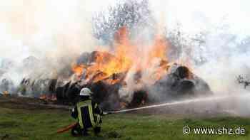 Tangstedt: Hohe Flammen bei Rundballenbrand in Wilstedt | shz.de - shz.de