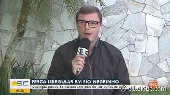 Polícia Ambiental flagra pesca predatória em Rio Negrinho - G1