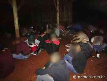 Polícia Militar acaba com 'festinha' de 60 jovens em Pinhalzinho - ND - Notícias