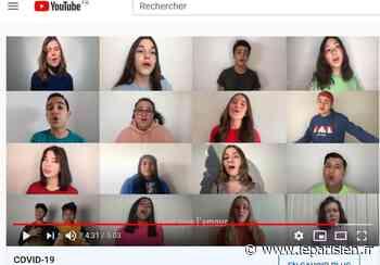 Une ado d'Igny lance un clip avec des copains chanteurs pour les soignants - Le Parisien
