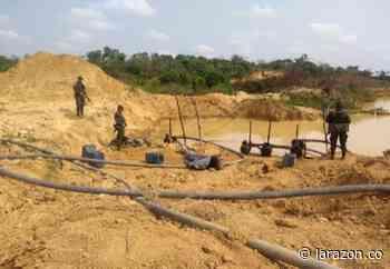 En Córdoba propinan duro golpe a la minería ilegal en Ayapel - LA RAZÓN.CO