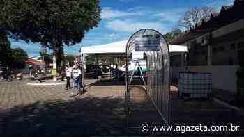 Coronavírus: Aracruz instala 'corredores' para desinfetar moradores - A Gazeta