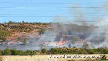 Emergency services called to large grass fire in Eston Hills - The Northern Echo