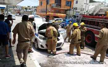Se incendia carro de ruta en la colonia Guadalupe Victoria - El Sol de Tampico