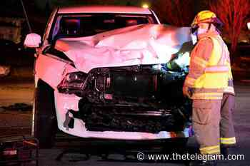 Woman hospitalized after pickups crash in Mount Pearl Monday night - The Telegram