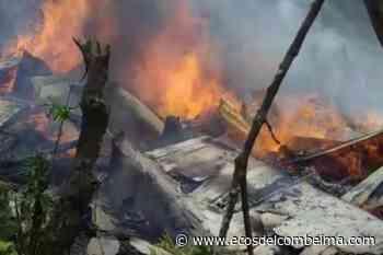 Voraz incendio estructural consumió una vivienda en Casabianca - Ecos del Combeima