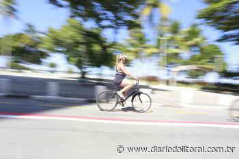 Guarujá começa a implantar ciclofaixa na avenida da Praia de Pitangueiras - Diário do Litoral