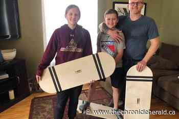 Sackville, N.B. dad combines woodworking with his kid's boredom to create fun during quarantine - TheChronicleHerald.ca
