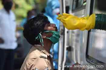 Mobil keliling untuk pengujian COVID-19 di Chennai India - ANTARA