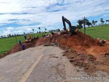 Trecho da BR-316 se rompe próximo a Bacabal devido chuvas - ma10.com.br