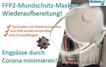 Die Hartmann GmbH aus Hainichen bekämpft den Corona-bedingten Mangel an FFP2-Mundschutz-Masken! - PresseBox.de