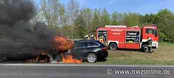 Vorfall Auf Höhe Emstek West: Auto brennt auf Bundesstraße 72 - Nordwest-Zeitung