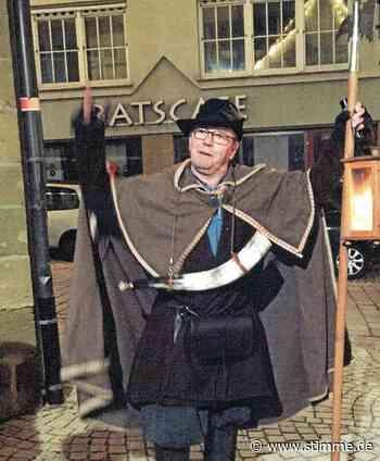 Warum Günter Patzelt gerne Nachtwächter in Neuenstein gewesen wäre - Heilbronner Stimme