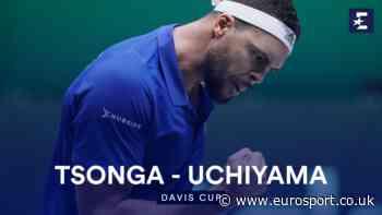 Highlights: Jo-Wilfried Tsonga storms past Yasutaka Uchiyama to give France lead over Japan - Eurosport.co.uk