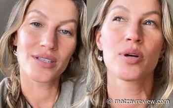 During a pandemic, Gisele Bundchen speaks to you if you have a fear of getting sick; the video of Who - Matzav Review